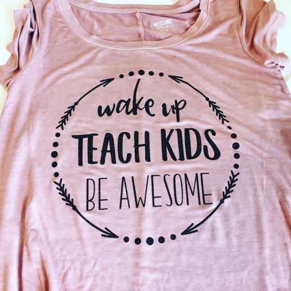 PLEASE READ BEFORE PURCHASING!!!  *****PLEASE CHECK MY SHOP FRONT PAGE FOR SPECIAL COUPON CODES AND INFORMATION ON CURRENT SALES***** www.etsy.com/shop/RuntCakes  What better way to celebrate your favorite teacher, teammate, or dare I say...yourself...than with this shirt! Shirts are made with high quality glitter GOLD, SILVER, or BLACK vinyl (please specify in the NOTES TO SELLER section when you check out, otherwise, one will just be chosen for you). Be sure to ask questions if un...