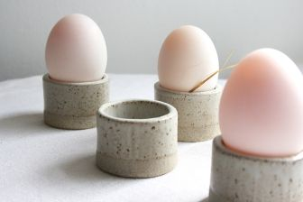 Egg Cup l Design: Tom Butcher Just perfect for your morning egg. With soldiers. No base, so doubles up as a napkin ring.