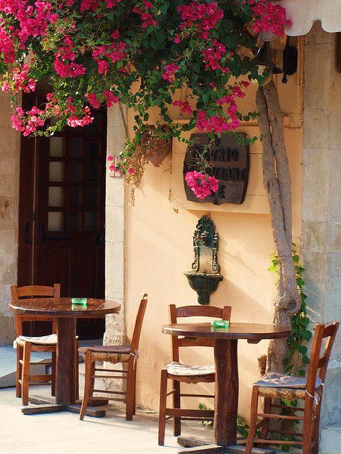 Flores en pequeña terraza ~ sentimiento del sur