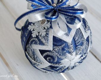 Quilted ornament kit No sew Longaberger Horizon by ornamentgirl