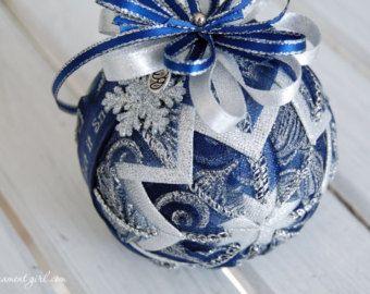TUTORIAL No cucire palla di Natale fai da TE di di ornamentgirl