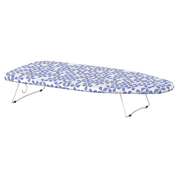 For anything involving heat transfers?  JÄLL  Tabletop ironing board  $4.99  Article Number:501.190.54  Hook on the underside, to hang it out of the way when not in use.