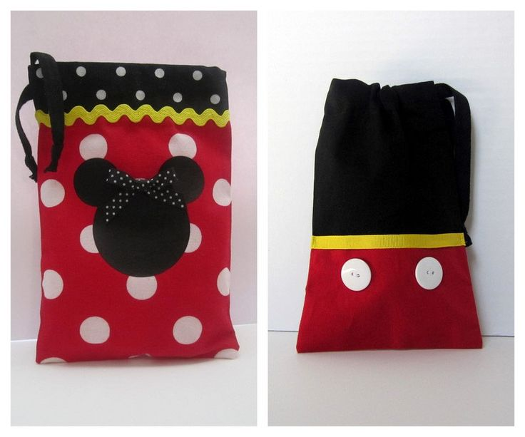 SO CUTE! Drawstring backpacks - for the plane and the park!