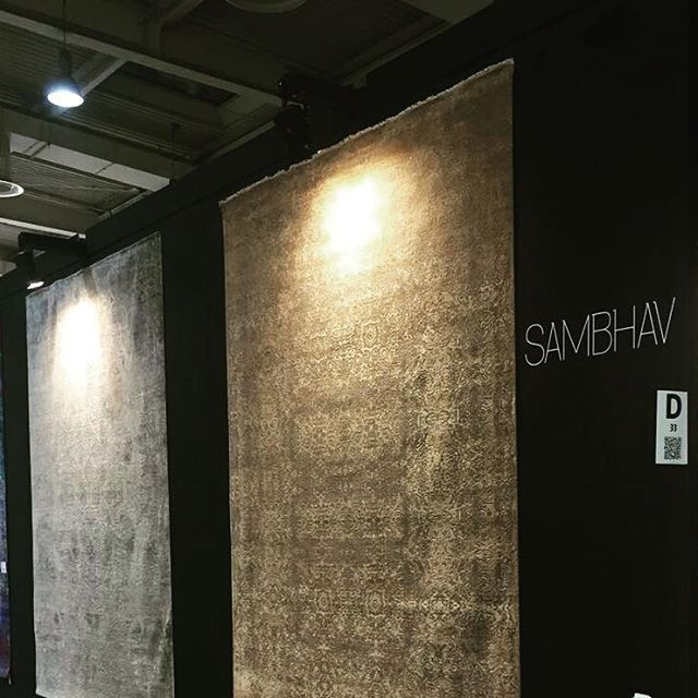 Getting Set for @domotex_hannover.  A few hours to go and we are pumped to have it knocked.  See you there!  Stand D33, Hall 17.  #Domotex2017 #StandD33 #Hall17 #RugsBySambhav #Hannover #Germany #MakeInIndia #HomeDecor #Handmade #LuxuryInteriors #Interior #Instalikes #Carpets #Rugs #InteriorDecor #Flooring
