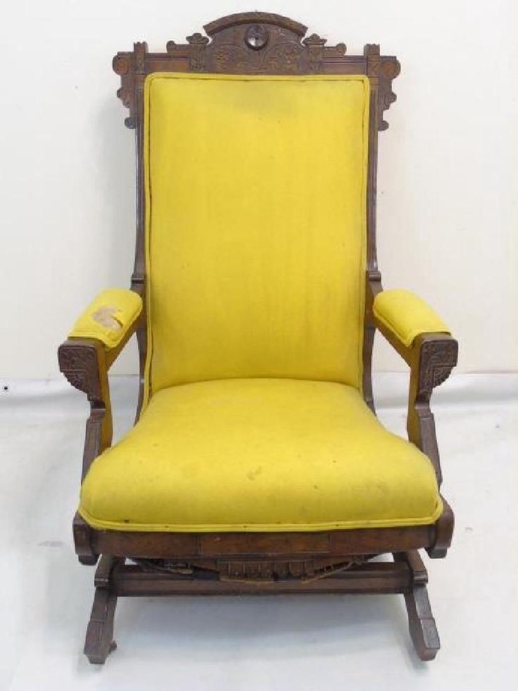 lot 19th c victorian carved wood glider rocking chair lot number