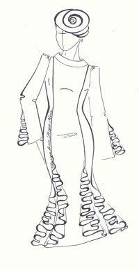Перевод выточки в вертикальный рельеф (Выкройки своими руками) Классический вариант расположения рельефа на полочке, так называемый вертикальный или сквозной рельеф, это когда нагрудная вытачка и выточка на линии талии соединяется по условно прямой линии, т.е. от плеча к талии. Рассмотрим несколько вариантов моделирования такого рельефа.