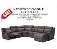 Natuzzi Editions B865 Leather Sectional