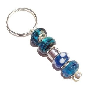 Add beads to make a unique keyring