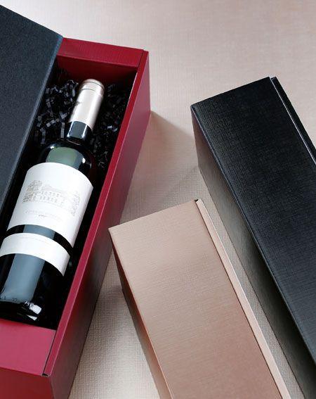 Geschenkverpackung mit edler Strukturoberfläche für Wein-, Sekt- und Mischpräsente