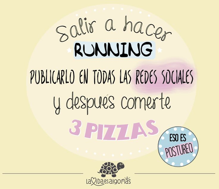 Las cosas claras...¡¡eso es postureo!! :) :) #postureoRunning #postureo #running #pizzas #EsoEsPostureo #FelizMiércoles