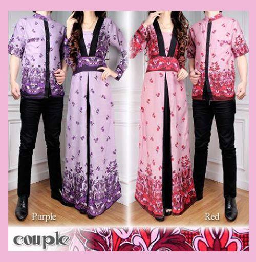 Baju Gamis Modern Terbaru - Baju Batik Gamis Couple Murahadalah pakaian yang dibuat dari bahan katun rayon dengan motif batik yang cantik dan manis khusus untuk para pasangan muda mu