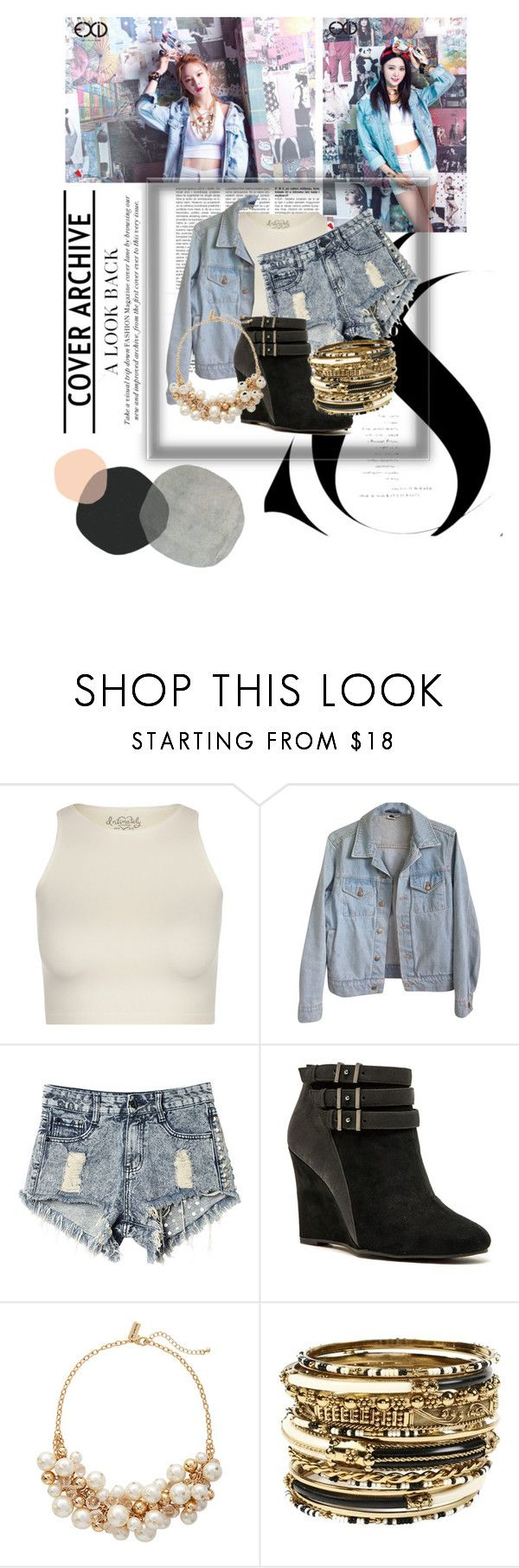 """""""~Exid~"""" by fashstyle16 ❤ liked on Polyvore featuring Free People, American Apparel, Qupid, The Limited and Amrita Singh"""