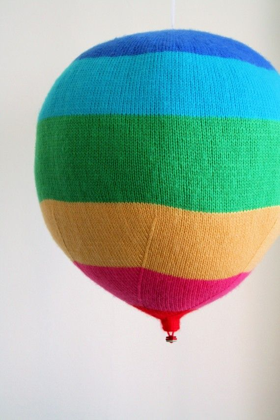 Hey future baby. You are totally getting knit hot air balloons. $3 for pattern, $40 completed.