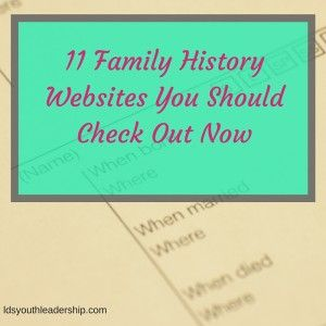 This is a great list of family history websites! You should check them out now!
