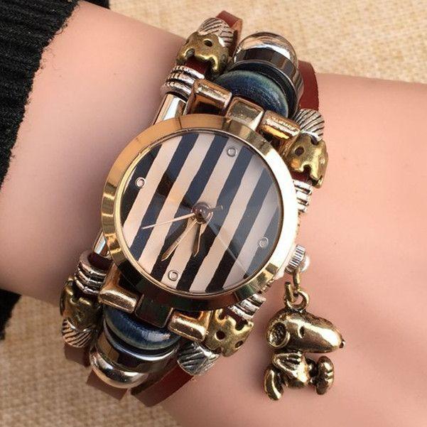 $8.98 (Buy here: https://alitems.com/g/1e8d114494ebda23ff8b16525dc3e8/?i=5&ulp=https%3A%2F%2Fwww.aliexpress.com%2Fitem%2F2015-NEW-Genuine-Leather-Watch-Women-Triple-Bracelet-Wristwatch-Dog-Charm-Fashion-Reloj-Para-Dama-Watch%2F32407443298.html ) TOP Leather Watch Women Triple Bracelet Wristwatch Dog Charm Fashion Reloj Para Dama Watch for just $8.98