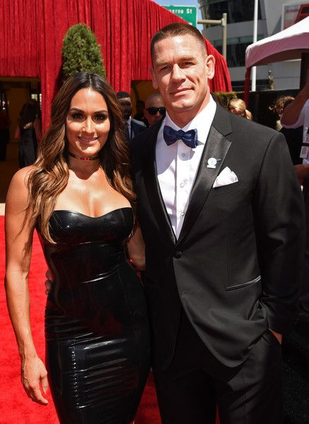 Nikki Bella Photos - WWE Diva Nikki Bella (L) and host John Cena attend the 2016 ESPYS at Microsoft Theater on July 13, 2016 in Los Angeles, California. - The 2016 ESPYS - Red Carpet