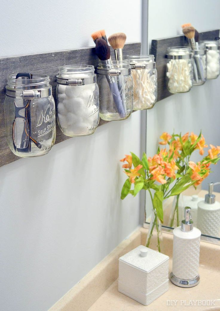 Photo Of How to Create a Mason Jar Organizer for your Bathroom Space