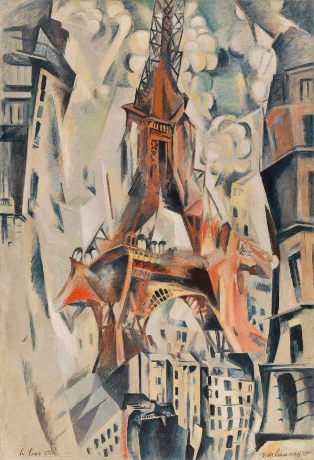 Robert Delaunay, Tour Eiffel (1911), Guggenheim Museum, New York