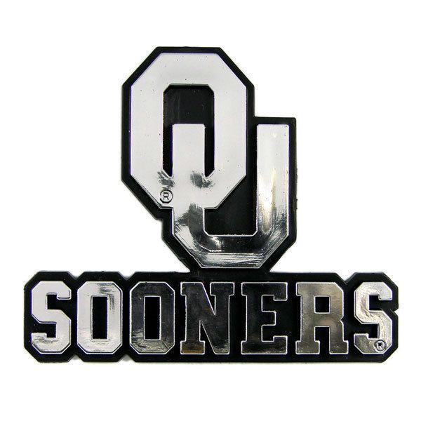 Oklahoma Sooners Auto Emblem - Silver Z157-8162005022
