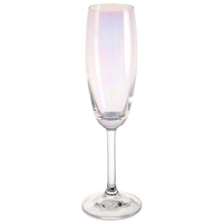 Flûte à champagne en verre ARC EN CIEL  Maisons du Monde  Flute