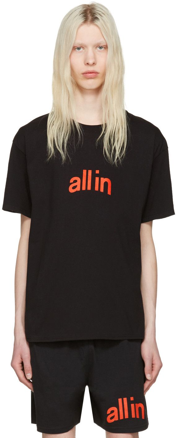 all in - Black Champion Edition Logo T-Shirt