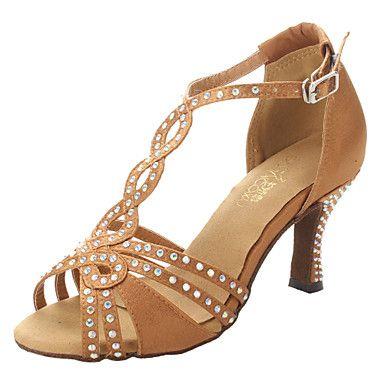 Non+Customizable+Women's+Dance+Shoes+Ballroom/Latin/Salsa+Satin+Chunky+Heel+Other+–+AUD+$+40.03
