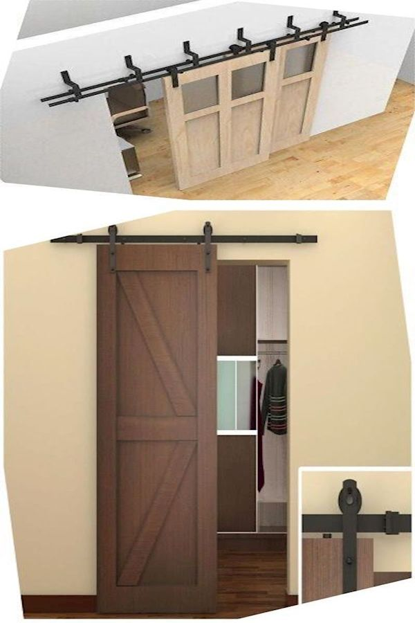 Exterior Sliding Barn Door Kit Shed Door Rollers Interior Barn Door Track Kit Tall Cabinet Storage Barn Door Home Decor