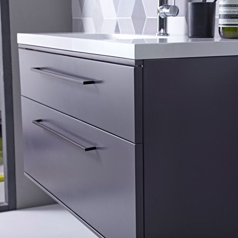 Scheme 800 wall mounted basin unit with double drawer | Roper Rhodes