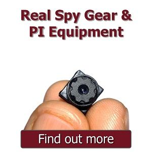 Real spy Gear and PI Equipment