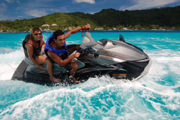 Bora Bora Jet Ski Tour, Lunch at Bloody Mary's, and Shark and Stingray Snorkel Cruise.  Make the most of your time on Bora Bora by combining a Jet Ski tour with a shark and stingray boat safari for a full day of the island's most popular attractions. You'll get breathtaking views of the Polynesian paradise as you zoom around on your Jet Ski with an experienced guide. From USD $209.21