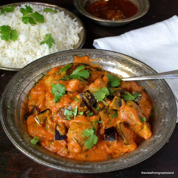 Lamb & Eggplant Tikka Masala - The View from Great Island