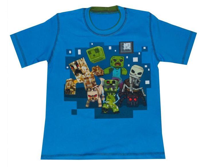T-shirt miłośniak MINECRAFT'a r.140 WYPRZEDAŻ