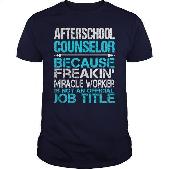 Awesome Tee For Afterschool Counselor - silk screen #funny shirts #design t shirts