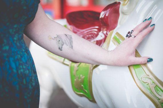 Unicorn Temporary Tattoos  Temporary Tattoo  door DBIllustrations