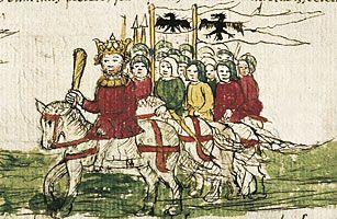 """TOP TEN REDHEADS  Emperor Frederick I ~ It's often said that the Holy Roman Empire was not quite holy, nor Roman, nor much of an empire. The 12th century German potentate Frederick I sought to reclaim his royal line's territorial claims in Italy. The monarch's endless Italian campaigns earned him the sobriquet Barbarossa, or """"Red Beard"""" — both a comment on his appearance as well as on the fear and respect he inspired among the denizens of north Italy's city states."""
