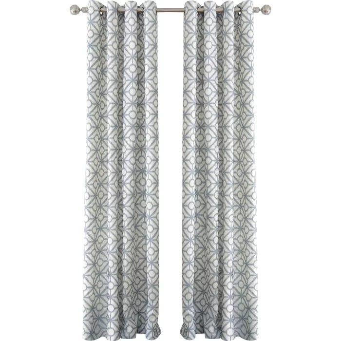 Https Www Allmodern Com Decor Pillows Pdp Crackle Geometric Room Darkening Grommet Single Curtain Panel Ehfa1071 Ht Curtains Grommet Curtains Drapes Curtains