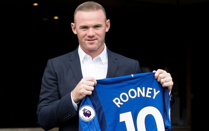 تحميل خلفيات واين روني, ايفرتون, كرة القدم, الدوري الممتاز, إنجلترا, واين مارك روني