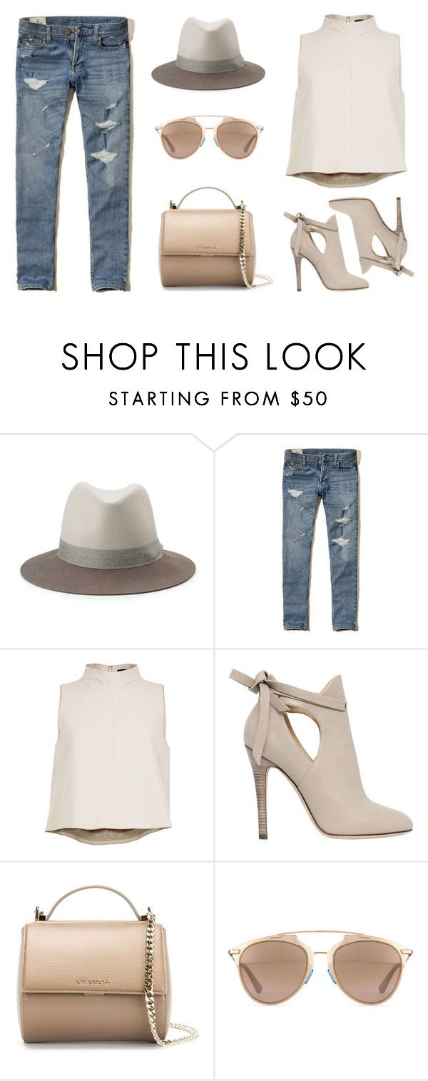 """chic'"" by la224 on Polyvore featuring rag & bone, Hollister Co., TIBI, Jimmy Choo, Givenchy and Christian Dior"