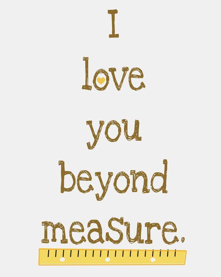 Printable I Love You Beyond Measure Craftplaylove