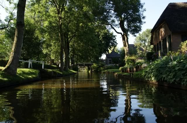 Spent a wonderful week on holiday in Giethoorn,NL. They call it the Venice of The Netherlands because a large part of the town has canals instead of roads. You can rent electric boats and tour the area. We rented a wonderful cottage on the lake and had the best time!