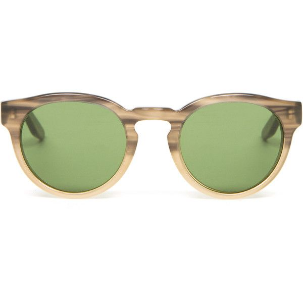 Barton Perreira Dillinger Vintage Green Lens Sunglasses ($395) ❤ liked on Polyvore featuring accessories, eyewear, sunglasses, glasses, fillers, stone henge, stoner glasses, barton perreira, vintage eyewear and translucent glasses