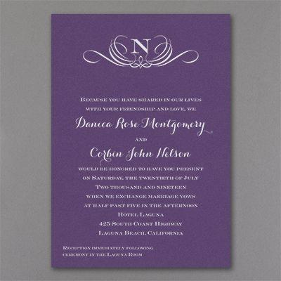 16 best monogrammed wedding invitations images on pinterest