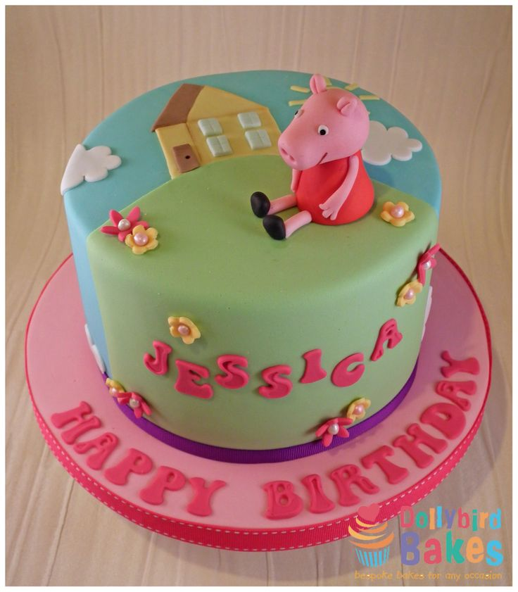 Peppa pig cake - dollybird bakes
