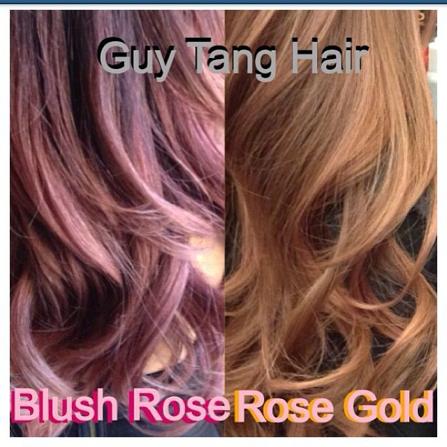 Blush Gold Rose Gold Color  Hair Creations  Pinterest  Guy Tang Hair Gu