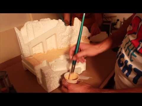 Presepe natalizio: Dipingere montagne e muri - Parte3 - YouTube