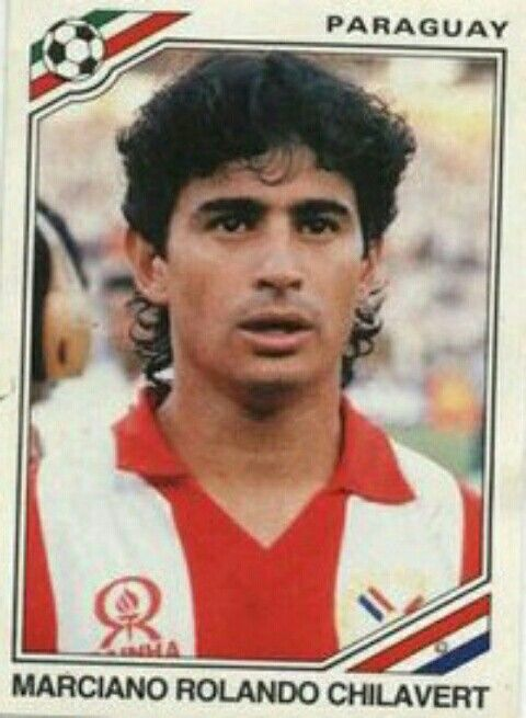 Marciano Chilavert of Paraguay. 1986 World Cup Finals card.