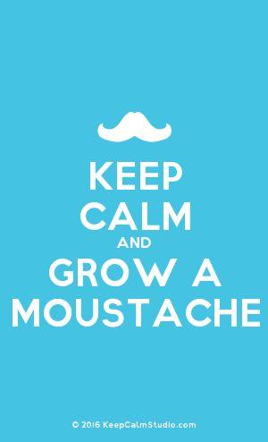 [Moustache] Keep Calm And Grow A Moustache