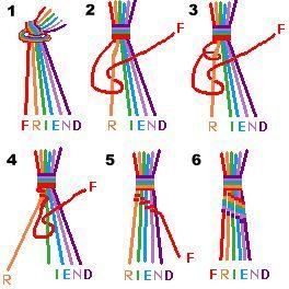 Easy friendship bracelet