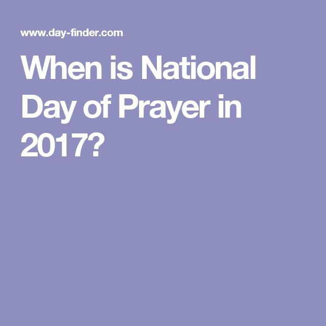 When is National Day of Prayer in 2017?