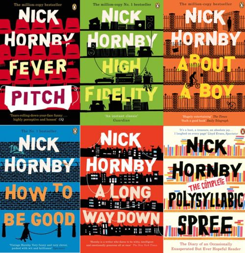 Nick Hornby Books with great visuals